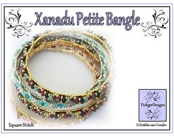 Tila Beading Pattern, Tutorial, Bangle - XANADU