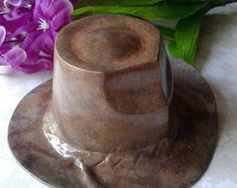 Recycled Western Brass Cowboy Hat