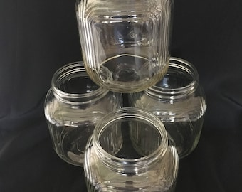 Set vintage PURE Food JARS 4 excellent condition NO Lids