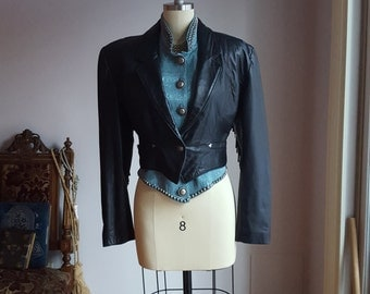 1980's, biker, fringe jacket by North Beach Leather, women's size 10, by Michael Hoban