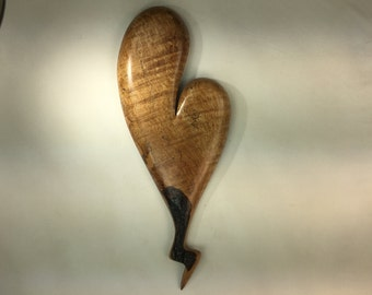 Wooden heart sculpture best gift ever wood Anniversary gift for her by Gary Burns