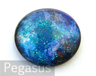 Blue Moon Round Glass opal Cabochon (3 Piece,6 size option) Fantasy gem for wedding,cosplay,elven costume,steampunk jewelry