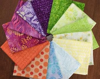 Anthology Bali Batiks Fat Quarter Bundle - Bakers Dozen - Buy 12 get 1 free