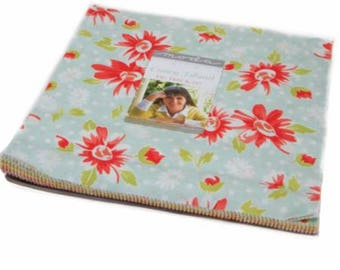 """Coney Island Layer Cake by Fig Tree Quilts for Moda Fabric 20280LC 42 10"""" Fabric Squares"""