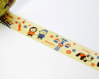 Limited Edition mt Japanese Washi Masking Tape - mt x Hanayashiki 15mm for packaging, tag making, scrapbooking