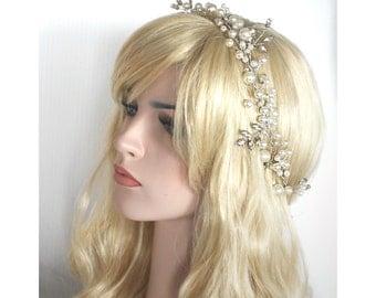 bridal Crystal rhinestone pearl headband