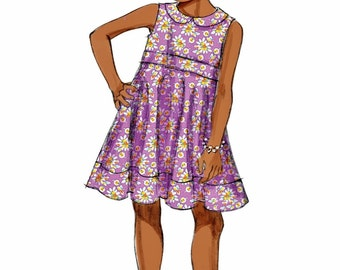 Girls' Dress Pattern, Girls' Tunic Top Pattern, Girls' Leggings Pattern, Butterick Sewing Pattern 5877