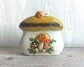 Sears Merry Mushroom Napkin Holder Ceramic 1978 Mod Brady Bunch Wonder Years
