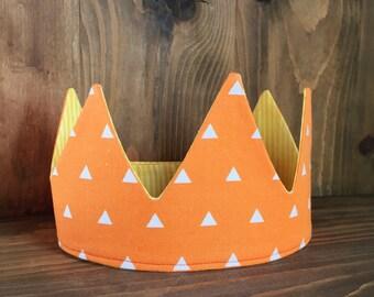 Orange & Yellow Reversible Crown