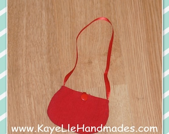 18 inch Fashion Doll Clothes - Accessories - Purse - Red