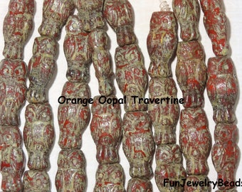 Small Czech Glass Owl Bead 15x7mm, 1 Strand  (10 beads per strand) Choose from 2 colors