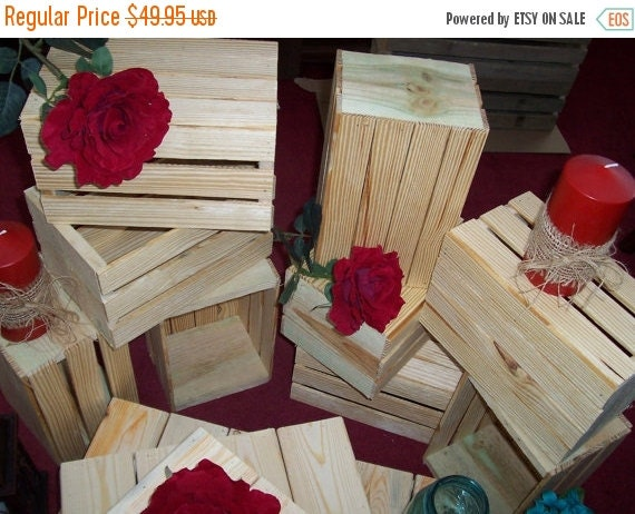On sale wood crates rustic wedding reception by