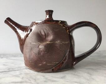 Dreamer Teapot Face Sculpture Surreal Pottery Figure Head Serving Vessel Art