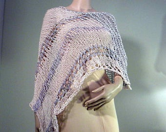 Sale - PONCHO/CAPLET/HOODIE - Wearable Fiber Art, Elegant & Versatile, Loosely Knitted, Italian Top Quality Yarns