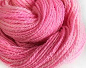 Handspun Superwash Merino and Nylon Yarn for Knitting, Crochet or Weaving - Candyfloss