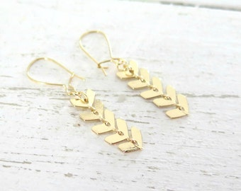 Nature Inspired Fern Earrings - Gold Botanical Jewelry - Fern Earrings - Woodland Jewelry