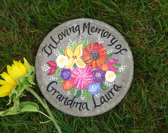 PERSONALZED MEMORIAL Stepping Stone, Memorial Gift, Garden Memorial Stone, Wedding Gift, Bridesmaid Gift, Mother of the Bride Gift, Sympathy