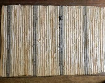 """vintage rag rug, 29 1/2"""" X 45"""""""