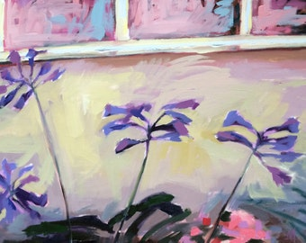 African Lilies no. 2 Original Floral Oil Painting by Angela Moulton 24 x 36 inch pre-order