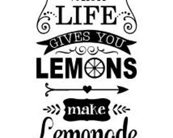 When life gives you lemons make lemonade vinyl wall decal