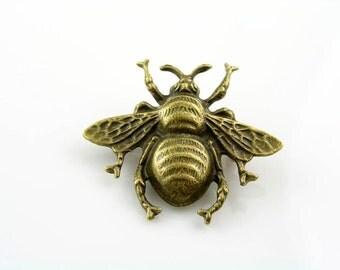 Bee Brooch, Cute Pin, Bug Brooch, Gift Idea, Handmade Brooch, Lapel Pin, Pin Badge, Bee Pin, Bee Jewelry, Bug Jewelry, Large Bee Brooch