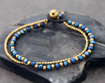 Midnight Crystal Double Strand Bracelet