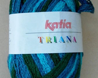 Katia Triana Frilly Ruffle Yarn, color #47 (Blues/Green-Ocean)