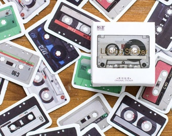 Cassette Tape sticker, Music sticker, CD Player, Music Player sticker, Vintage Music, Vintage sticker, Record Player, Lifelog sticker