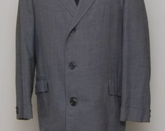1960s men's grey wool overcoat/ 60s men's grey overcoat/ Kosin's