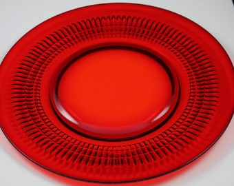 Fenton Lincoln Inn, Red 10 Inch Plates, Hard to Find  (2 Available)