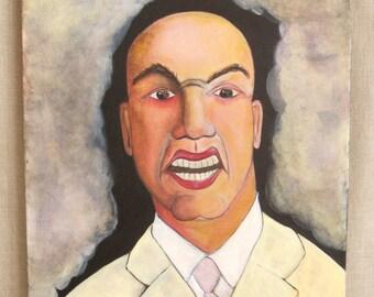 Fine Art Male Portrait Painting, Wil Shepherd Studio, Original, Paintings of Men, Portraiture, Gallery Wrapped Canvas, Unframed,Hand Painted
