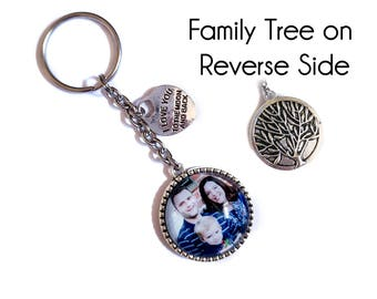 Custom Photo Keyring / Personalized Photo Keychain / Photo Keyring / Picture Keyring / Personalized Gift / Photo Keychain / Fathers Day Gift