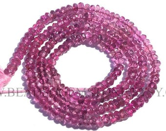 Pink Tourmaline Faceted Rondelle (Quality AA+) / 2.80 to 3.50 mm / 36 cm / TOUR-019