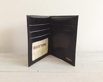 Vintage buxton black leather wallet, credit card holder, billfold
