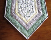 "Custom Order Quilted Table Runner ""Dogwood"" Reserved Listing for Susan, Final Payment, Quiltsy Handmade, Made to Order"