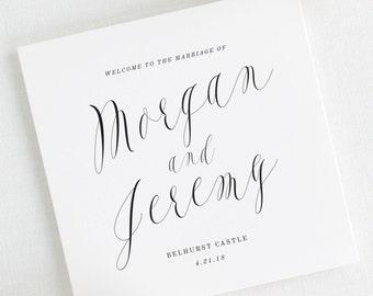 Ethereal Calligraphy Wedding Programs - Deposit