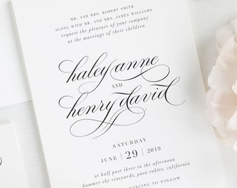 Haley Wedding Invitations - Sample