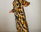 Leopard Print Maxi Coat Vintage Barbie Clothes