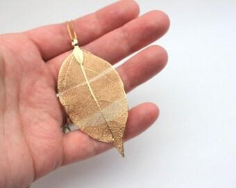 Long Leaf Necklace -- Large Leaf Necklace -- Gold Leaf Necklace -- Filigree Leaf Necklace -- Delicate Gold Leaf Necklace -- Nature Necklace