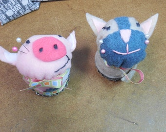 Pet Pincushions Pig or Kitty