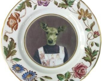 """Fawn School Portrait Plate 6"""""""