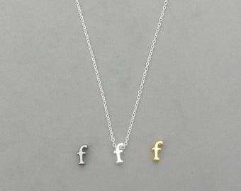 Initial f Necklaces