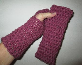 Burgundy Fingerles Gloves Crocheted by SuzannesStitches, Toddler Fingerless Gloves, Teen Fingerless Gloves, Girls Fingerless Gloves, Gloves