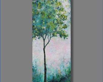 Acrylic Painting Art Original  Artwork Landscape Painting Modern Art Blue Painting Tree Painting Painting by Mirjana
