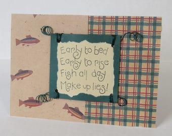Fish All Day, Fishing Card, Handmade Card, Blank Card, Fish, Masculine Card, Card For Men.