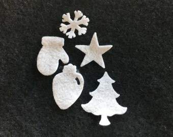 Felt Christmas Shapes for Wax Dipping-Holiday Pack-DIY Kits for Independent Consultants-Parties-Decorations-Embellishments-Bible Journaling