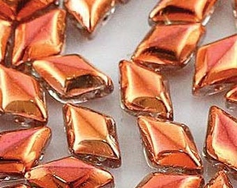 GemDuo 2 hole Beads, 8x5mm, 10 grams, #27137 Crystal Sunset - FREE pattern with purchase