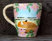 Reserved for Maddie - Spring Fox Mug