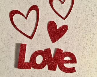 Valentine  - Love - Hearts Die Cuts - Set of 8