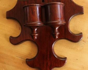 Vintage Wood Match Holder
